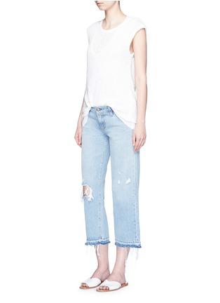 Figure View - Click To Enlarge - Simon Miller - 'Yerma' frayed cuff ripped light wash jeans