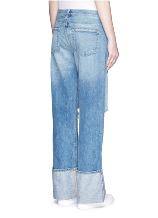 Back View - Click To Enlarge - Simon Miller - 'Arapo' distressed light wash wide leg jeans