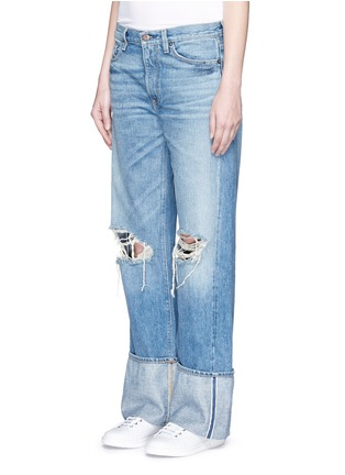 Front View - Click To Enlarge - Simon Miller - 'Arapo' distressed light wash wide leg jeans