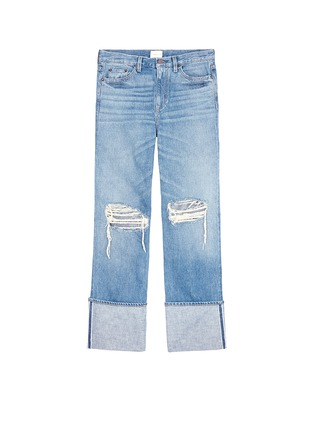 Main View - Click To Enlarge - Simon Miller - 'Arapo' distressed light wash wide leg jeans