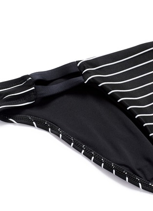 Detail View - Click To Enlarge - Vitamin A - 'Neutra' stripe cutout hipster bikini bottoms