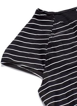 Detail View - Click To Enlarge - VITAMIN A - 'Estella' cropped stripe rash guard