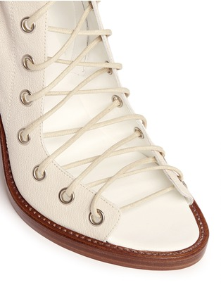 Detail View - Click To Enlarge - ANN DEMEULEMEESTER - 'Anthem' leather lace-up sandal boots
