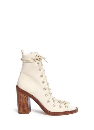 Main View - Click To Enlarge - ANN DEMEULEMEESTER - 'Anthem' leather lace-up sandal boots