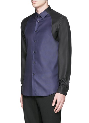 Front View - Click To Enlarge - Alexander McQueen - Contrast sleeve Oxford shirt