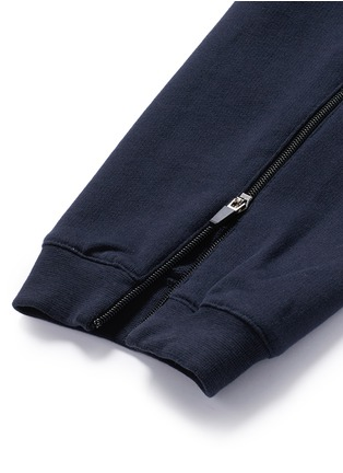 Detail View - Click To Enlarge - Alexander McQueen - Zip cuff organic cotton sweatpants