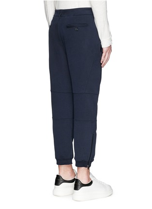 Back View - Click To Enlarge - Alexander McQueen - Zip cuff organic cotton sweatpants