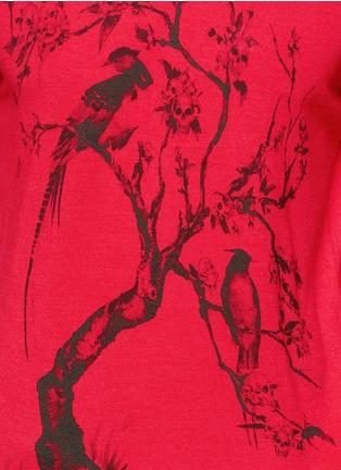 Detail View - Click To Enlarge - Alexander McQueen - Tree print wool-silk sweater