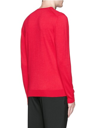 Back View - Click To Enlarge - Alexander McQueen - Tree print wool-silk sweater