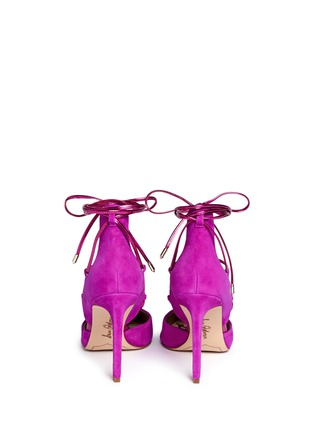 Back View - Click To Enlarge - Sam Edelman - 'Dayna' suede lace-up pumps