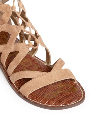 Detail View - Click To Enlarge - Sam Edelman - 'Gena' lace-up suede gladiator sandals