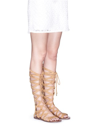 Figure View - Click To Enlarge - Sam Edelman - 'Gena' lace-up suede gladiator sandals