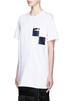 Front View - Click To Enlarge - TOGA ARCHIVES - Glossy checkerboard pocket T-shirt