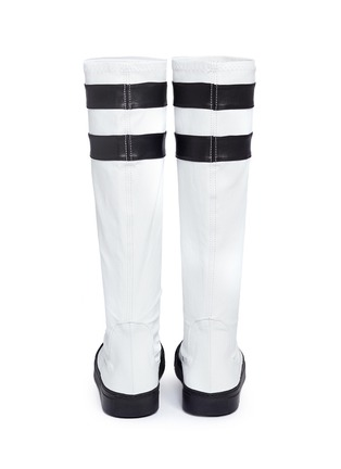 Back View - Click To Enlarge - EUGÈNE RICONNEAUS - 'E-Mid' contrast stripe leather sneaker boots