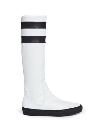 Main View - Click To Enlarge - EUGÈNE RICONNEAUS - 'E-Mid' contrast stripe leather sneaker boots