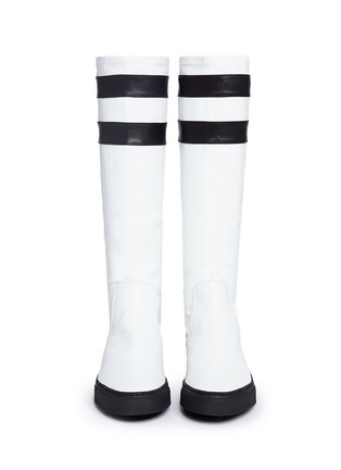 Figure View - Click To Enlarge - EUGÈNE RICONNEAUS - 'E-Mid' contrast stripe leather sneaker boots