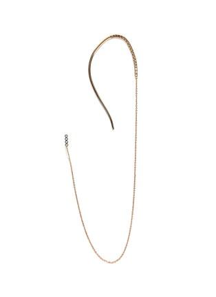 Main View - Click To Enlarge - Yannis Sergakis Adornments - 'Crochets' diamond 18k gold single ear cuff