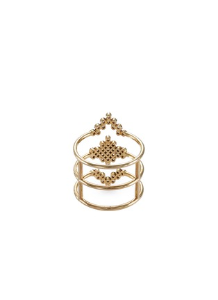 Figure View - Click To Enlarge - Yannis Sergakis Adornments - 'Charnières' diamond 18k gold triple band ring