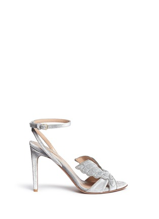Main View - Click To Enlarge - Valentino - 'Angelicouture' angel wing velvet sandals