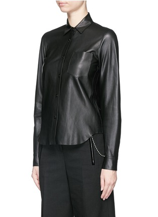 Front View - Click To Enlarge - Helmut Lang - Lamb leather shirt