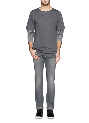 Front View - Click To Enlarge - 3x1 - 'M3' selvedge slim fit jeans