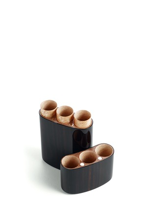 Detail View - Click To Enlarge - Siglo Accessory - WOODEN CORONA CIGAR CASE