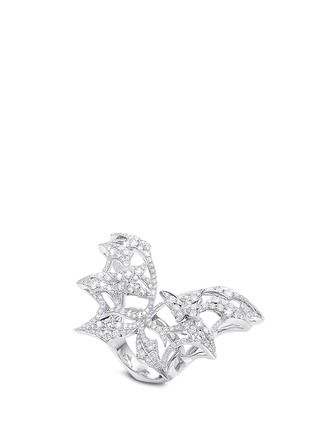 Main View - Click To Enlarge - Stephen Webster - 'Fly By Night' diamond 18k white gold large batmoth ring