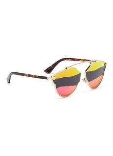 Dior 'Dior So Real A' stripe mirror panto sunglasses