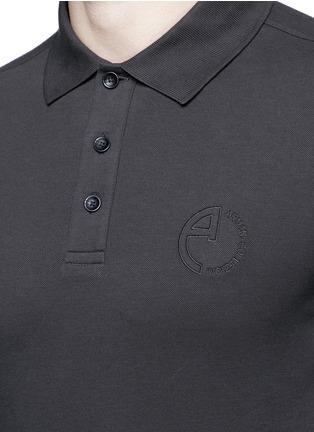Detail View - Click To Enlarge - Armani Collezioni - Slim fit polo shirt