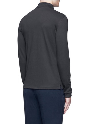 Back View - Click To Enlarge - Armani Collezioni - Slim fit polo shirt