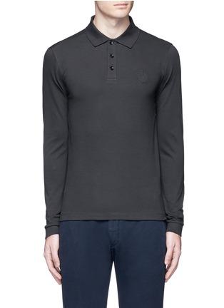 Main View - Click To Enlarge - Armani Collezioni - Slim fit polo shirt