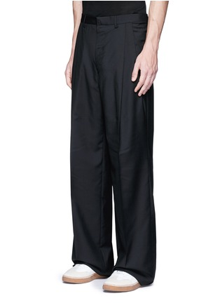 Front View - Click To Enlarge - Lanvin - Oversized pleat front wool pants