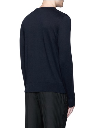 Back View - Click To Enlarge - Lanvin - Lotus flower embroidery wool sweater