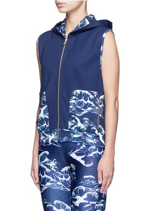Front View - Click To Enlarge - WE ARE HANDSOME - 'The Cascade' tidal wave print active vest