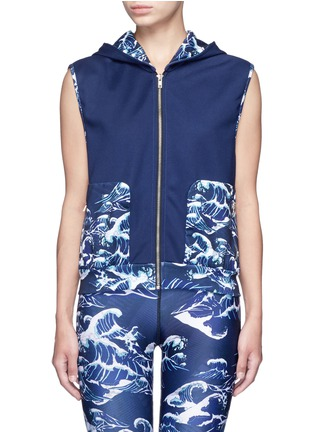 Main View - Click To Enlarge - WE ARE HANDSOME - 'The Cascade' tidal wave print active vest