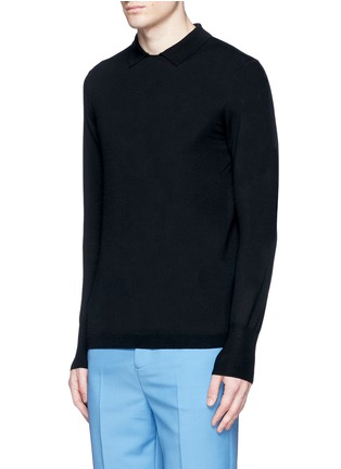 Front View - Click To Enlarge - Acne Studios - 'Janeck' spread collar wool sweater