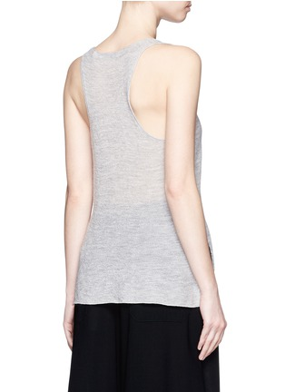 Back View - Click To Enlarge - Helmut Lang - Openwork cashmere knit racerback tank top