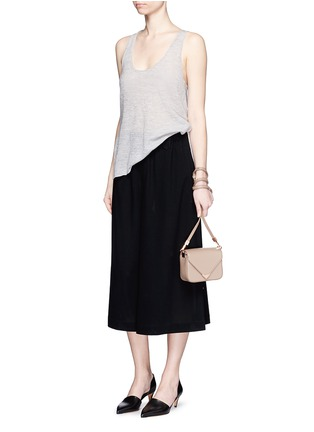 Figure View - Click To Enlarge - Helmut Lang - Openwork cashmere knit racerback tank top