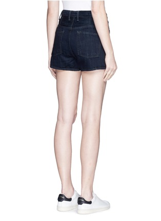 Back View - Click To Enlarge - Helmut Lang - Button fly denim shorts