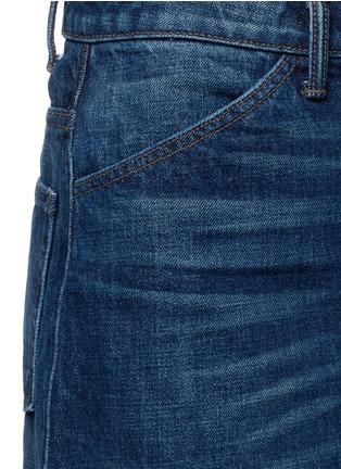 Detail View - Click To Enlarge - Helmut Lang - Dark worn denim skirt