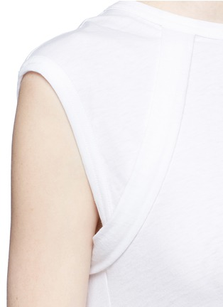 Detail View - Click To Enlarge - HELMUT LANG - Vintage cotton jersey strap T-shirt