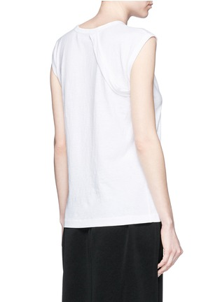 Back View - Click To Enlarge - HELMUT LANG - Vintage cotton jersey strap T-shirt