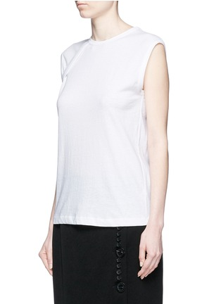 Front View - Click To Enlarge - HELMUT LANG - Vintage cotton jersey strap T-shirt