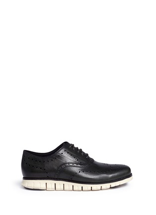 Main View - Click To Enlarge - Cole Haan - 'ZeroGrand' wingtip brogue leather Oxfords