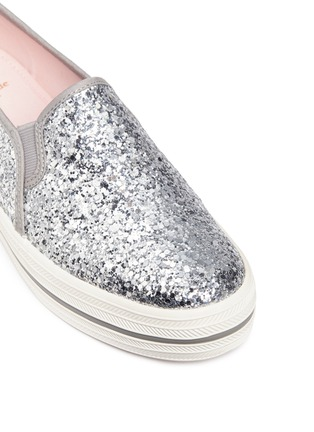 Detail View - Click To Enlarge - Keds - x Kate Spade 'Triple Decker Glitter' flatform slip-ons