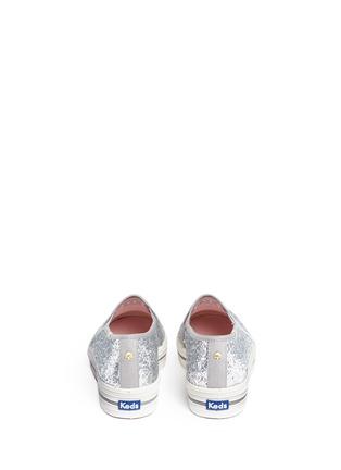 Back View - Click To Enlarge - Keds - x Kate Spade 'Triple Decker Glitter' flatform slip-ons