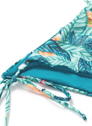 Detail View - Click To Enlarge - MARA HOFFMAN - Side tie leaf print bikini bottoms
