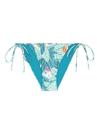 Main View - Click To Enlarge - MARA HOFFMAN - Side tie leaf print bikini bottoms