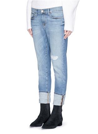 Front View - Click To Enlarge - FRAME DENIM - 'Le Garçon' boyfriend jeans