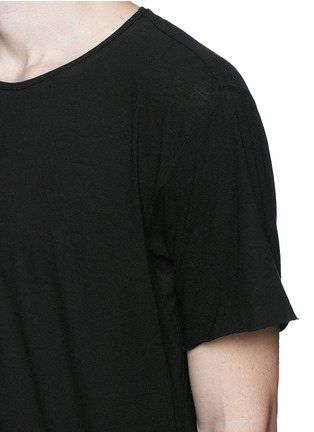 Detail View - Click To Enlarge - Ziggy Chen - Raw cut cotton jersey T-shirt
